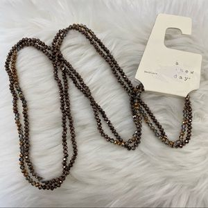 4/$20 A New Day Brown Single Strand Necklace